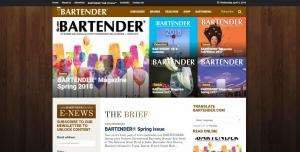 Featured on the cover of Bartender Magazine